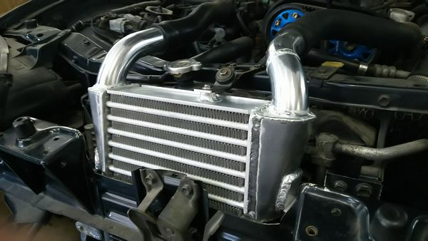 カプチーノ!大容量純正置き換えインタークーラー! EA11 EA21 圧力損失低減加工 放熱塗装