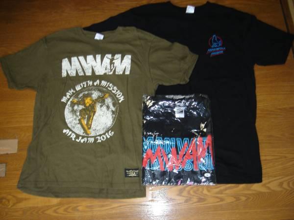 1円~MAN WITH A MISSION Tシャツ3枚セット Lサイズ 送料無料 ライブグッズの画像