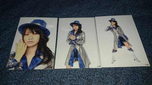 AKB48 大島優子 僕とジュリエットとジェットコースター ガチャ3枚 生写真/AKS