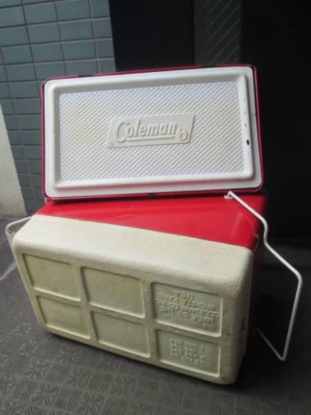 貴重!60's~70's COLEMAN ヴィンテージ USA 赤 コールマン クーラーボックス/70'sジャグキャンプアメリカアンティーク西海岸ガレージ_画像3