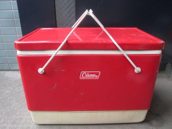 貴重!60's~70's COLEMAN ヴィンテージ USA 赤 コールマン クーラーボックス/70'sジャグキャンプアメリカアンティーク西海岸ガレージ_画像1