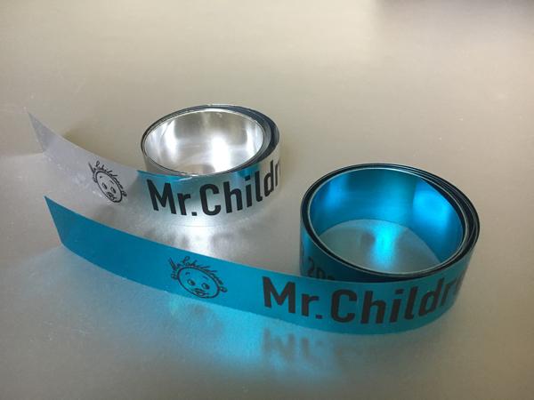 Mr.Children DOME&STADIUM TOUR 2017 Thanksgiving 25 銀テープ 銀色青色2色 合計2本 ライブグッズの画像