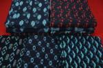 ★木綿着物等10点まとめ売り!■絣/藍/リメイク材料/古布-5762