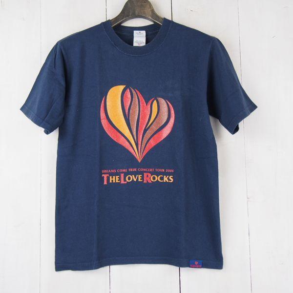 ドリカムDreams Come Trueコンサートツアー2006 THE LOVE ROCK 記念Tシャツ(YOUTH L)ネイビー