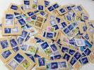 1円〜★日本使用済み切手500円 新書体 伐折羅100枚 紙付き★青バサラ★3000