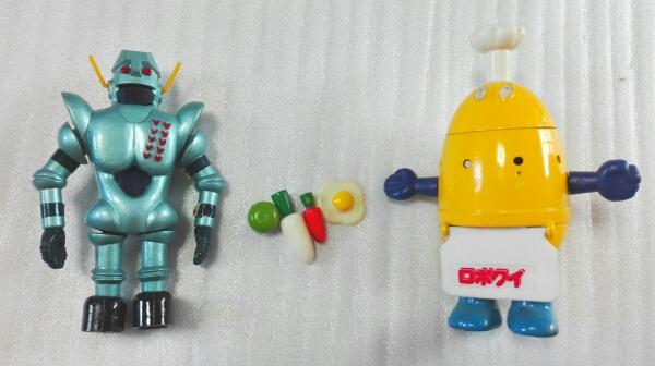 ロボクイ ガンツ先生 本体とパーツ 昭和 超合金 ロボコン グッズの画像