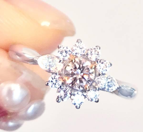 《PINK DIAMOND》PT900 ピンクダイヤ リング ダイヤ 0.215ct!VSクラス!大粒