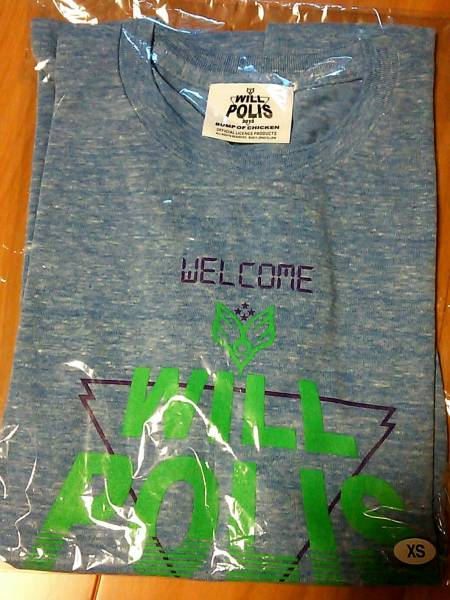 BUMP OF CHICKEN WILLPOLIS2013 Tシャツ XS ライブグッズの画像