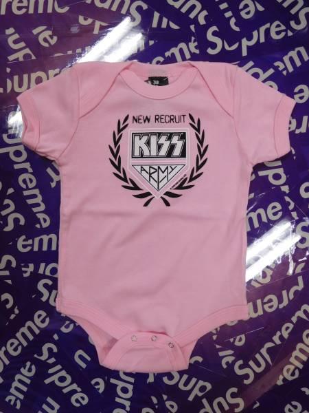 c5b86180109bf  新品 送料無料  KISS ロンパース 44 出産祝い ROCK ロック 3-6Mサイズ