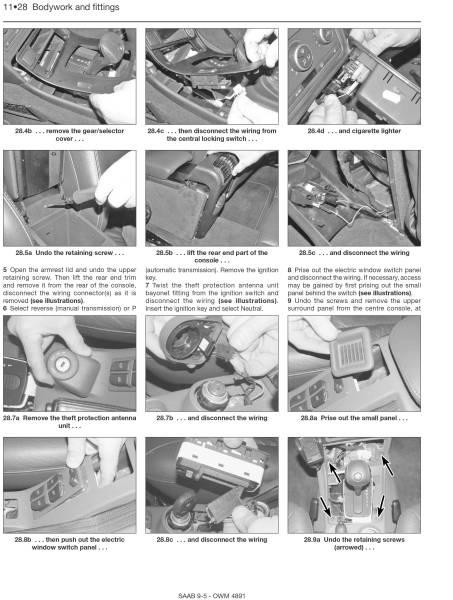Saab(サーブ) 9-5 2005-10年 英語版 整備解説書_内容の参考例
