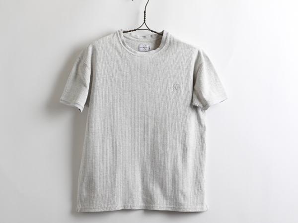 USA製90's■Calvin Klein Jeansカルバンクラインジーンズ半袖コットンTシャツ(希少メンズS)リブ編み_画像1