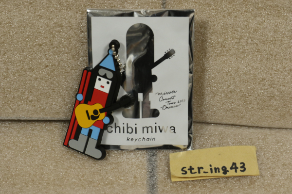 未使用 miwa oncert tour 2015 ONENESS トレーディング PVCキーホルダー 長野 ver. グッズ