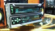 Carrozzeria CDS-P300 MEH-P800 CD MDプレーヤー1DINデッキ スペアナイコライザー表示 90年代モデル パイオニア製 40W×4 作動確認済み