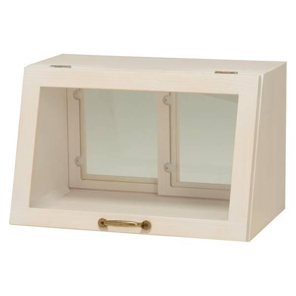2/15 カウンター上ガラスケース(ウォッシュホワイト) MUD-6065WS