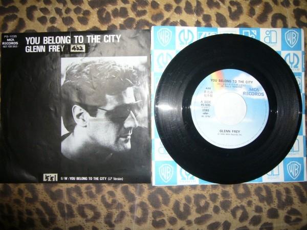 即決EP グレン・フライ GLENN FREY♪ユー・ビロング・トゥ・ザ・シティ YOU BELONG TO THE CITY_画像1