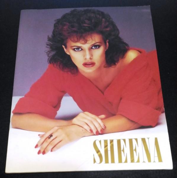 シーナ・イーストン 1984年日本ツアーパンフ★宝焼酎「純」SPECIAL Sheena Easton'84 折れあり
