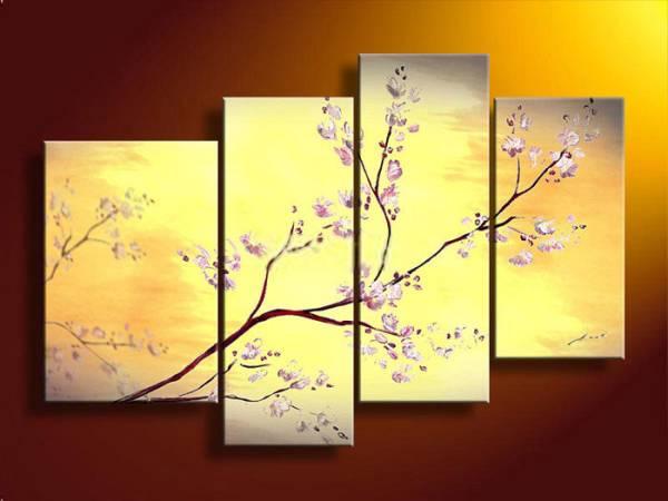 アートパネル 『桜の花』 30x40cm他、計4枚組 肉筆 サクラ