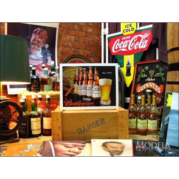 アメリカンブリキ看板 バドワイザー since1876【1155】sign_alcohol_サイズ:長辺41cm×短辺32cm(約)