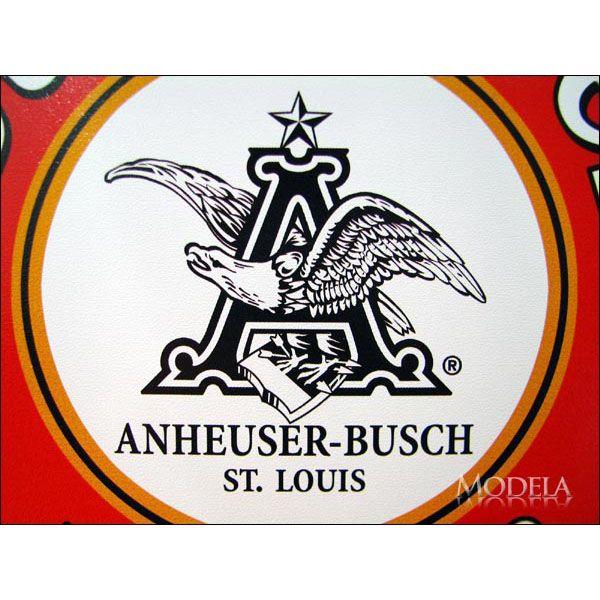 アメリカンブリキ看板 バドワイザー -バーレルラベル-【1157】sign_alcohol_サイズ:直径30cm(約)