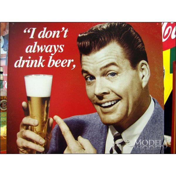 アメリカンブリキ看板 もっと飲みたい【1740】sign_alcohol_サイズ:長辺41cm×短辺32cm(約)