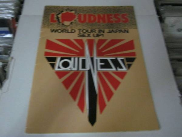 LOUDNESS ラウドネス / WORLD TOUR IN JAPAN SEX UP! 写真集 VOW WOW MARINO 44 MAGNUM BLIZARD ACTION EARTHSHAKER X JAPAN REACTION