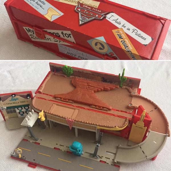 ディズニー カーズ コース 情景 コンパクト 収納 梱包80サイズ ディズニーグッズの画像