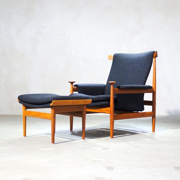 finn juhl bwana chair フィンユール ブワナチェア オットマンセット