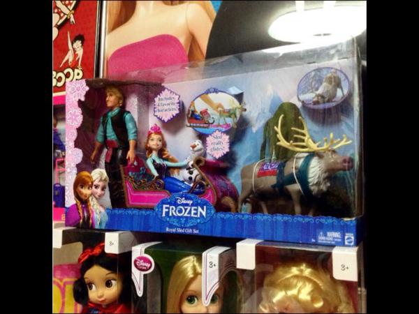 【箱全長60センチ!】アナと雪の女王 ディズニー スペシャルセット プレゼントに♪ ドール 人形 フィギュア ソリ バービー 【切手可】 ディズニーグッズの画像