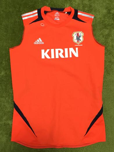 非売品 adidas JFA サッカー日本代表 支給品 ノースリーブトレーニングシャツ Oサイズ グッズの画像