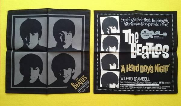 ビートルズ「ハンカチ」(ポケットチーフ)2枚セット 新品 日本製 正規品(A HARD DAY'S NIGHT)