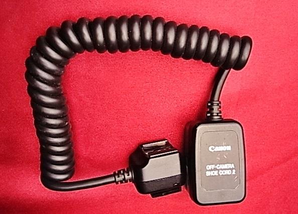 Canon OFF-CAMERA SHOE CORD 2 キャノン オフカメラシューコード 2
