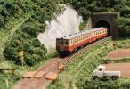 田園地帯を行く非電化ローカル線ジオラマ(送料無料)