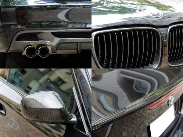 BMW 135i クーペ 7AT 平成22年 後期型iDrive ワイドHDDナビ 車検長い 平成30年4月迄 オリジナルマフラー_純正及び社外カーボンパーツの数々