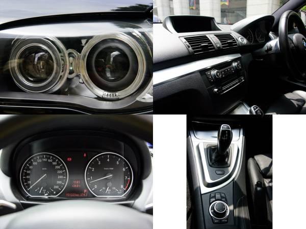 BMW 135i クーペ 7AT 平成22年 後期型iDrive ワイドHDDナビ 車検長い 平成30年4月迄 オリジナルマフラー_LUXI LEDリング、綺麗な室内