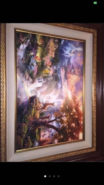 Disney Fine Art ディズニーファインアート バンビ 限定 レア Thomas Kinkade ディズニーグッズの画像
