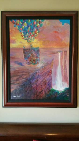 Disney Fine Art ディズニーファインアート 限定 レア カールじいさんの空飛ぶ家 Harrison Ellenshaw ディズニーグッズの画像