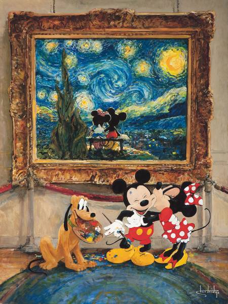 Disney Fine Art ディズニーファインアート ミッキー ミニー プルート 限定 レア