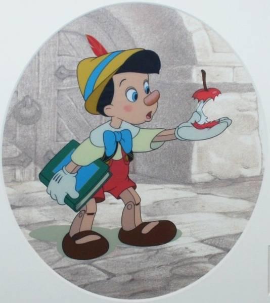 ディズニー ピノキオ 原画 セル画 限定 レア Disney 入手困難 ディズニーグッズの画像