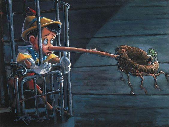 Disney Fine Art ディズニーファインアート ピノキオ 限定 レア Rodel Gonzalez ディズニーグッズの画像