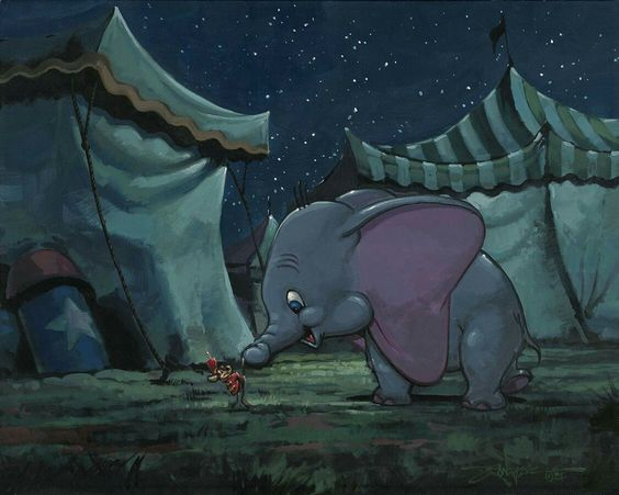 Disney Fine Art ディズニーファインアート ダンボ 限定 レア Rodel Gonzalez ディズニーグッズの画像