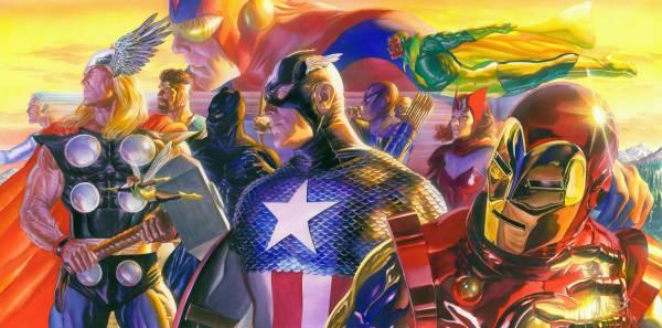 Marvel アベンジャーズ アイアンマン キャプテンアメリカ マイティソー 限定 レア Alex Ross 映画グッズの画像