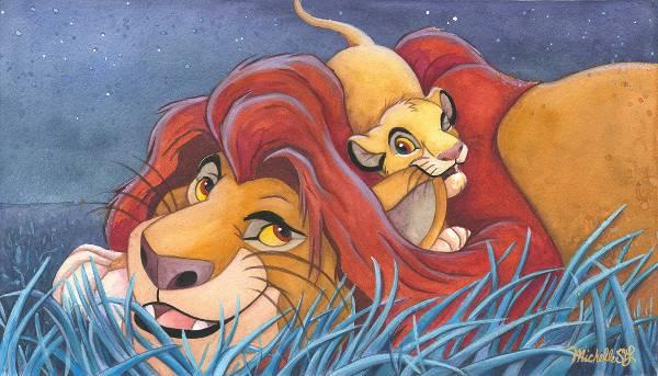 Disney Fine Art ディズニーファインアート ライオンキング 限定 レア ディズニーグッズの画像