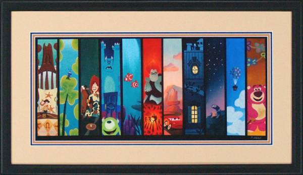 Disney Fine Art ディズニーファインアート ピクサー トイストーリー モンスターズインク カーズ カールじいさんの空飛ぶ家 限定