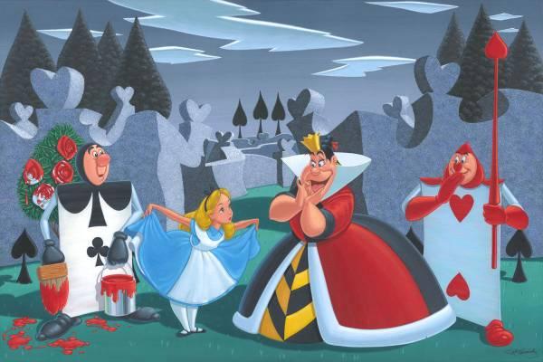 Disney Fine Art ディズニーファインアート ふしぎの国のアリス 限定 レア ハートの女王 Manny Hernandez ディズニーグッズの画像