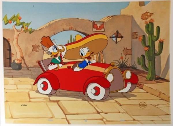 ディズニー ドナルド デイジー 原画 セル画 限定 レア Disney 入手困難 ディズニーグッズの画像