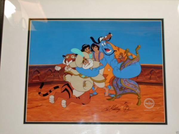 ディズニー アラジン ジーニー 原画 セル画 限定 レア Disney 入手困難 ディズニーグッズの画像