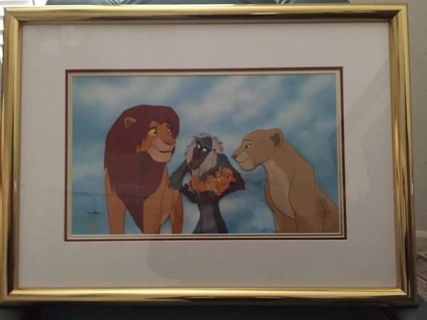 ディズニー ライオンキング シンバ ムファサ 原画 セル画 限定 レア Disney 入手困難 ディズニーグッズの画像