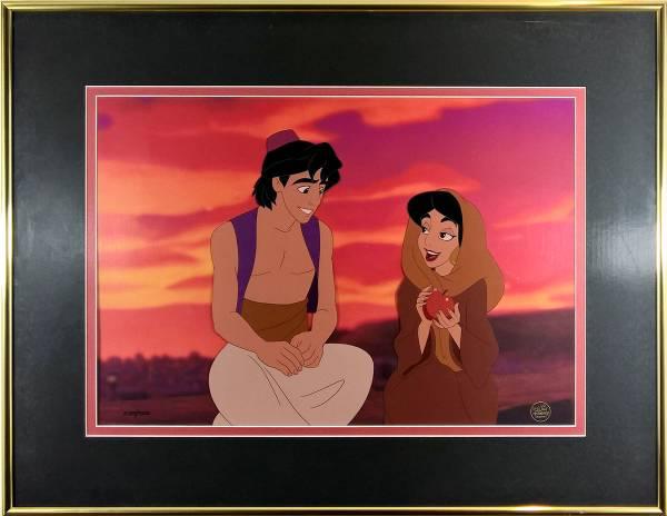 ディズニー アラジン 原画 セル画 限定 レア Disney 入手困難 ディズニーグッズの画像