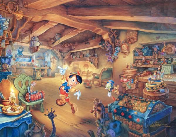Disney Fine Art ディズニーファインアート ピノキオ 限定 レア Tom duBois ディズニーグッズの画像