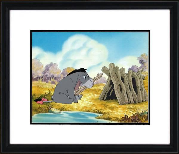 ディズニー クマのプーさん イーヨー 原画 セル画 限定 レア Disney 入手困難 ディズニーグッズの画像